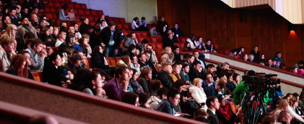 audience at a live event conference hall